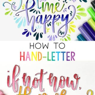 how to hand lettering