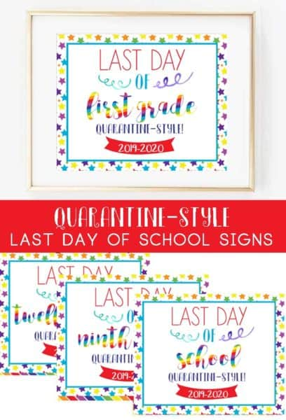 last day of school signs free