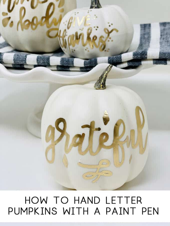 hand lettered pumpkins
