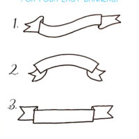 how to draw a banner