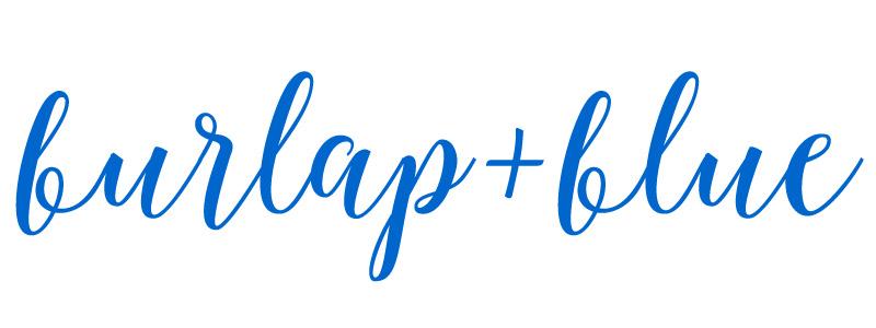Burlap + Blue