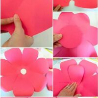 paper flowers step by step