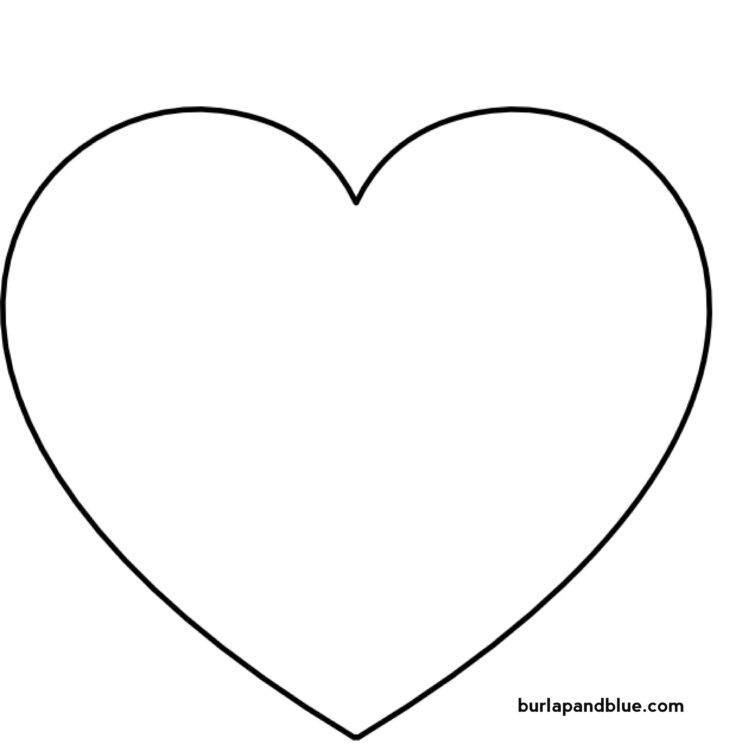 large heart outline