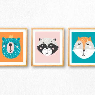 woodland animals free printables