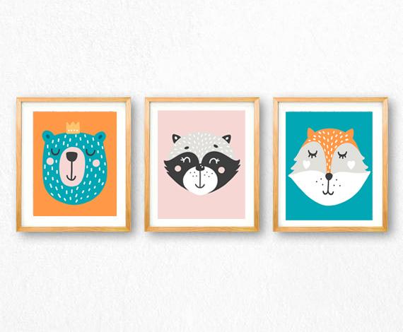 woodland animals printables