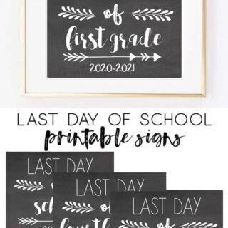 last day of school signs