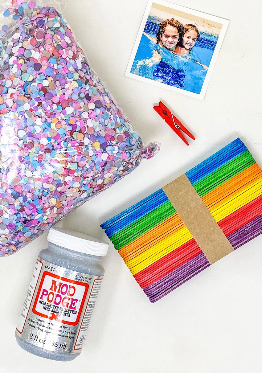 popsicle stick picture frame supplies